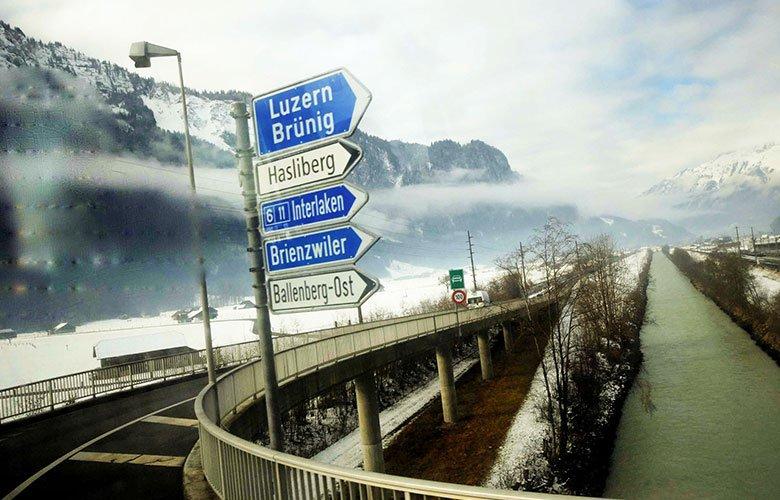 trasporto merci per la Svizzera tragitto